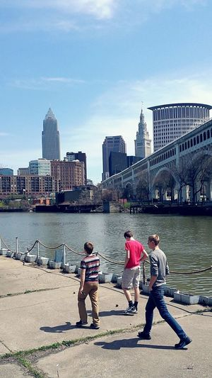 Share Your Adventure Cleveland City Skyline Hanging Out Hello World