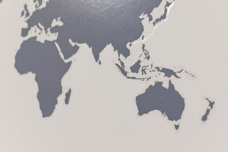 Map of the world sticker on the wall Map World Map Indoors  White Color Physical Geography Close-up Paper Nature Globe - Man Made Object Pattern High Angle View Full Frame Architecture Topography Sticker Wall