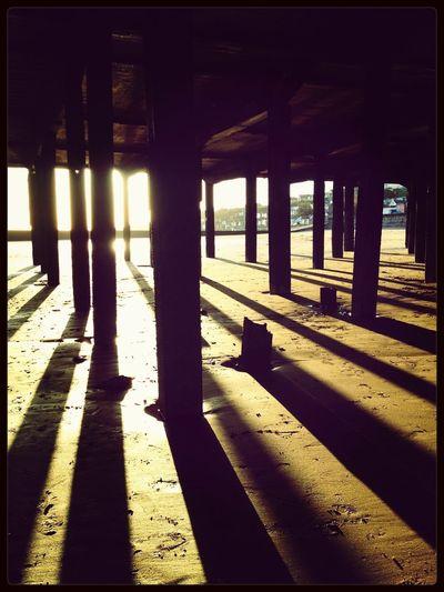 Under Walton pier Pier Walton Essex