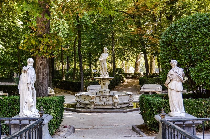 Statues in park