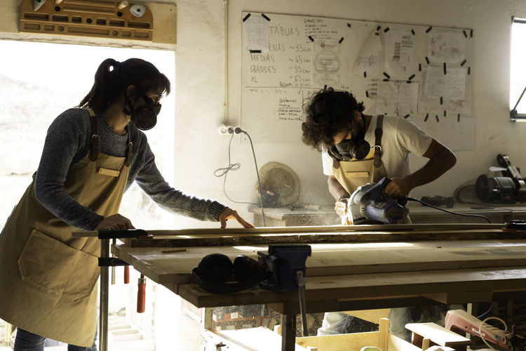 People working in museum
