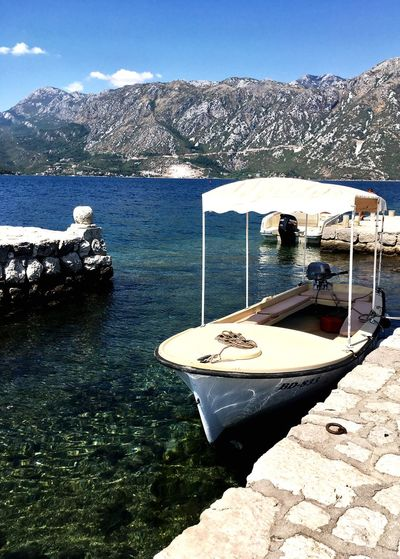 Perast Montenegro - Taxi Boat Mountain Nature Beauty In Nature Outdoors Theladyontherocks