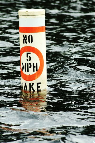 No Wake Water Lake Water_collection Water Reflections Ripples 5 Mph Bouy Caution Warning Rules Regulations Boating Boat Ride Boat Trip Adirondacks Old Forge Ny