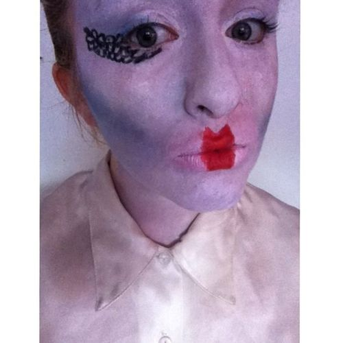 Experimentation ??? Makeup Theatricalmakeup Redlipstick White silk selfie
