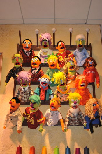 Multi Colored Mupets Puppets