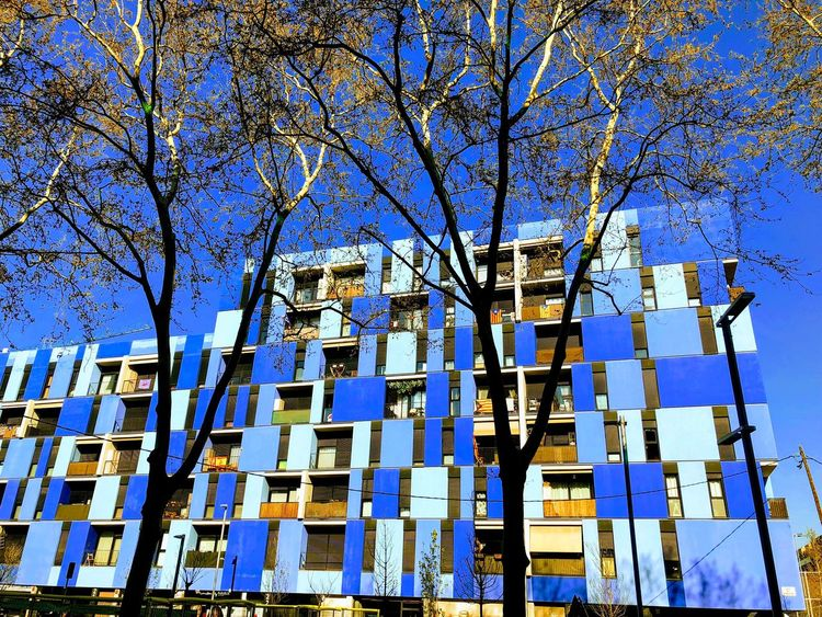 Low Angle View Architecture Built Structure No People Day Blue Sky