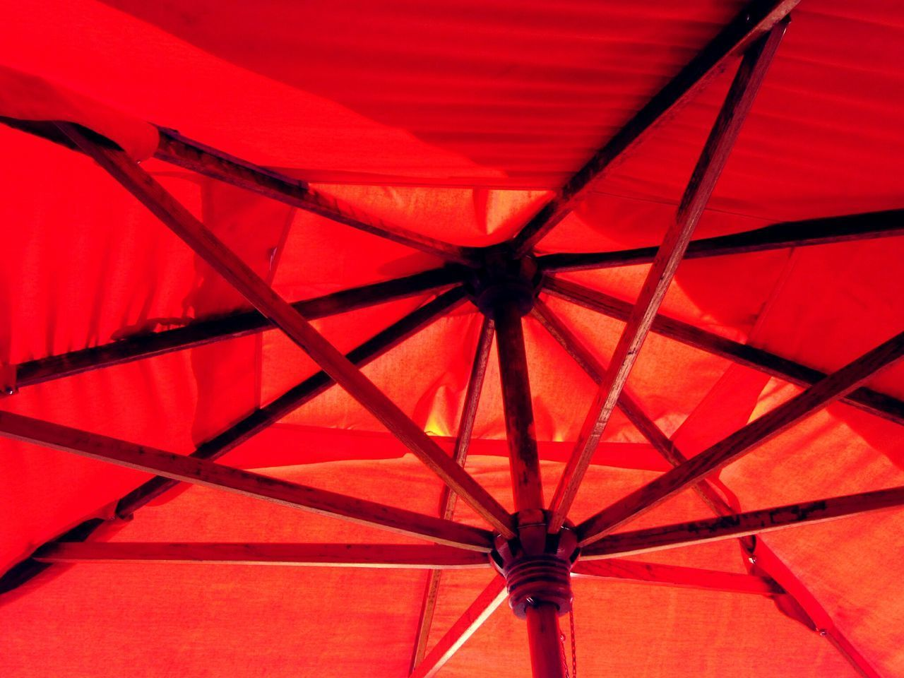 red, low angle view, no people, indoors, day, close-up