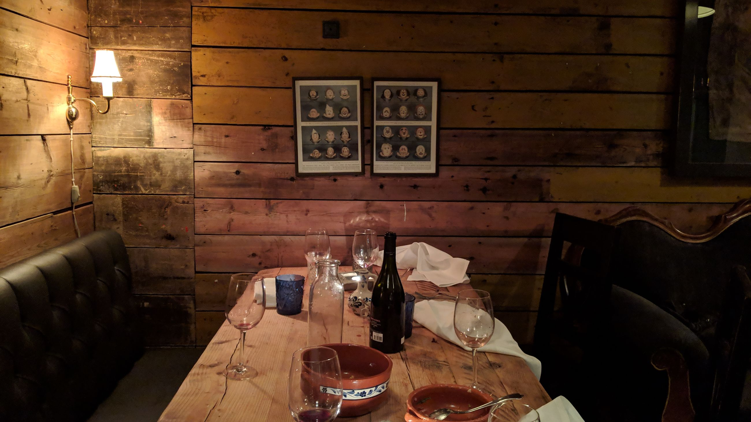 indoors, food and drink, absence, table, glass, seat, chair, drink, still life, no people, household equipment, drinking glass, empty, restaurant, business, glass - material, furniture, wine, alcohol, wood - material, setting, crockery