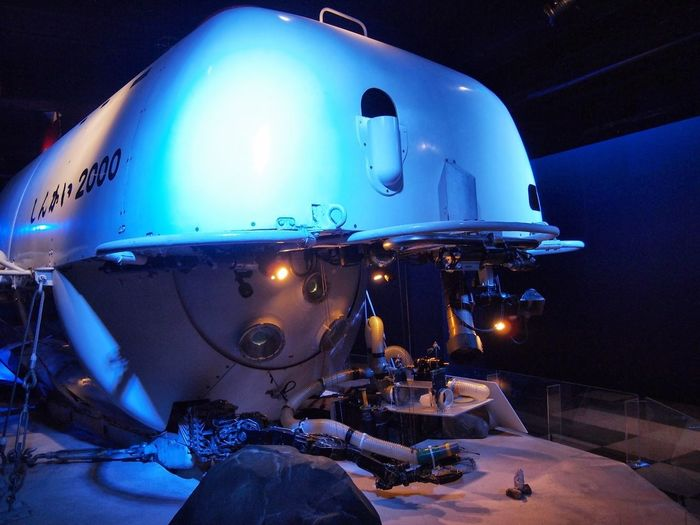 Manned research submersible SHINKAI 2000. Science Aquarium Deep Sea
