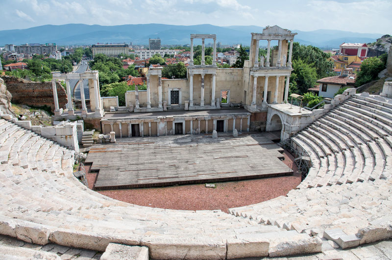 Amphitheatre of Plovdiv Bulgaria Plovdiv Amphiteatre Amphitheater Amphitheater Ruins Ancient Ancient Civilization Archaeology Architectural Column Architecture Building Exterior Built Structure Bulgaria Day High Angle View History Nature Old Old Ruin Outdoors Ruined The Past Tourism TOWNSCAPE Travel Travel Destinations