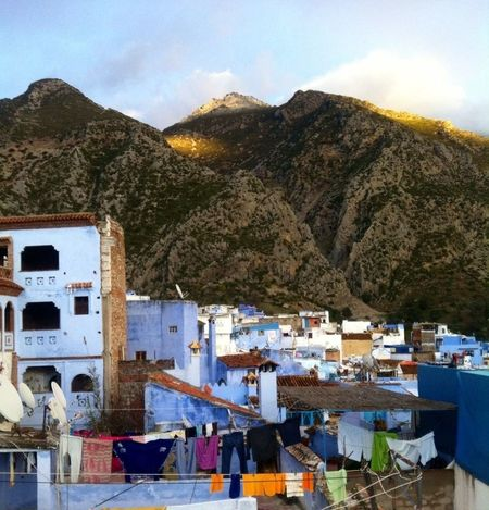 Travel Photography Taking Photos Beautiful Town Lovely Place Chefchaouen Morocco Blue City Chefchaouen Medina Chefchaouen Rif Mountains