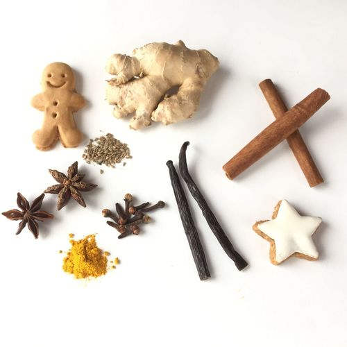 Winter Spices Spices Cinnamon Anise Star Anise Ginger Curcuma Food And Drink Spice Ingredient White Background Freshness Food Christmastime Christmas Gingerbread Cookies