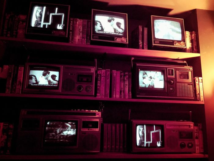Close Up Technology London Night Television Old Times Old Technology