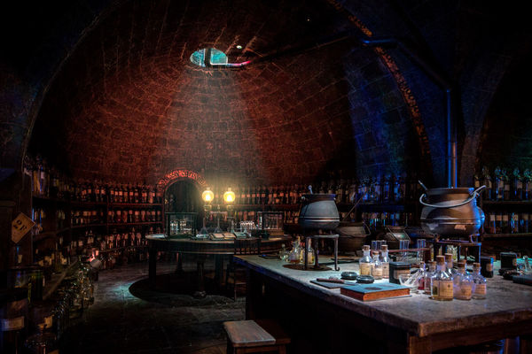 Potion's Class - Warner Bros Studio Harry Potter Hogwarts School Of Witchcraft And Wizardry Witchcraft  Cauldron Harrypotter Illuminated Indoors  Kicthen Magic Mystery No People Potions Class Red Color