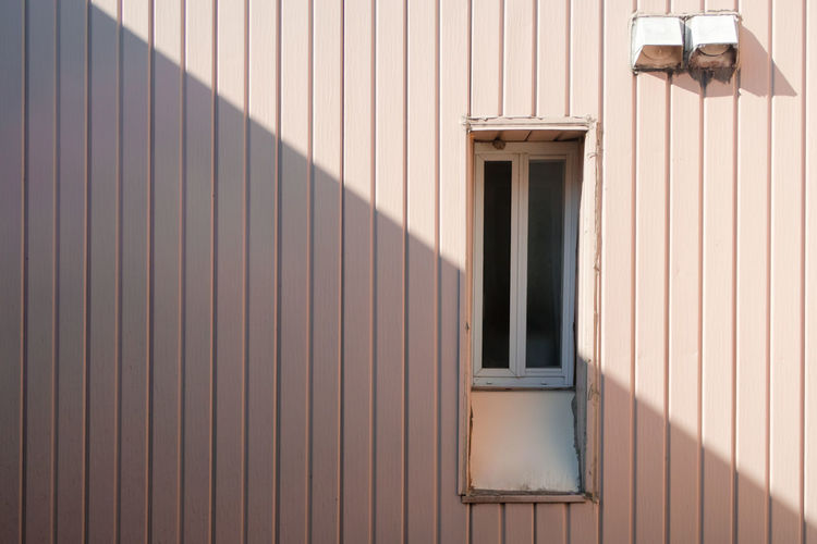Window shadow Diagonal Lines Shadows & Lights Architecture Building Exterior Built Structure Close-up Corrugated Iron Day No People Outdoors Pattern Shadow Window