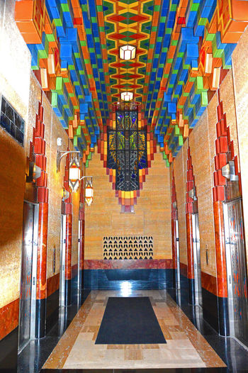 Guardian Building Interior Elevators Architecture Built Structure Day Illuminated Indoors  Multi Colored No People