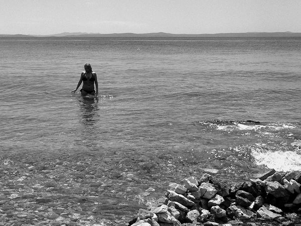 Picturing Individuality Seaside Sea Landscape Love Water B&w B&w Nature Girl Beautiful Beautiful Girl Beauty Beauty In Nature Bikini Blackandwhite Woman Rocks Outdoors Croatia Day Scenics Sunny Vacation Water_collection The Essence Of Summer