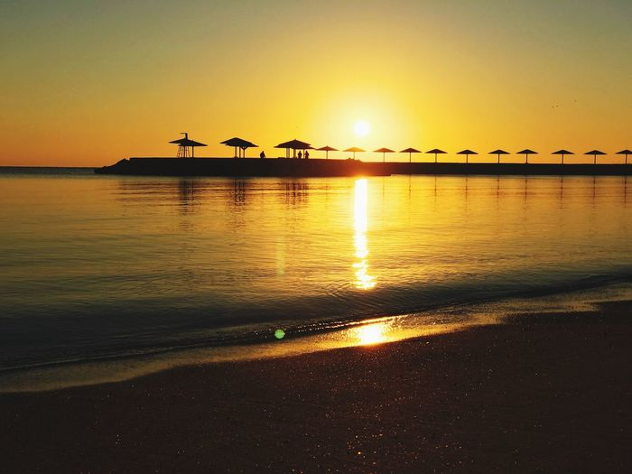 Egypt's early morning beach picture EyeEm Selects Sea Water Scenics Nature Sunlight No People Vacations