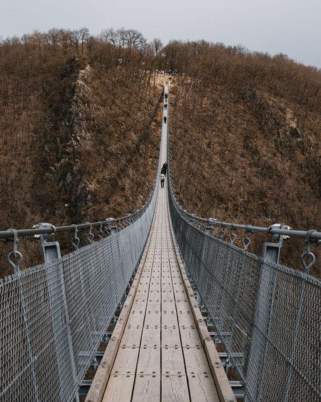 Footbridge over land