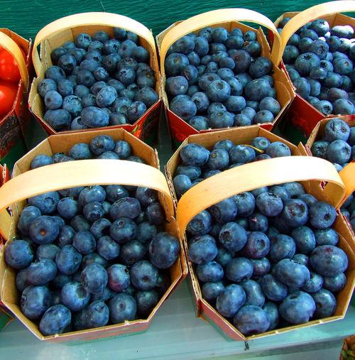 Various fruits in basket for sale at market