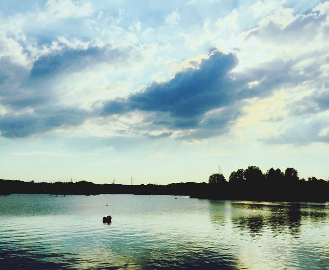 Yorkshire regeneration Regeneration Urban Lake Clouds And Sky Beautiful Nature Beauty In Nature Summer Evening Manmade Beautiful Water Cloud - Sky Sky Beauty In Nature Scenics - Nature Tranquility Tranquil Scene Waterfront Lake Silhouette Reflection Outdoors Nature No People