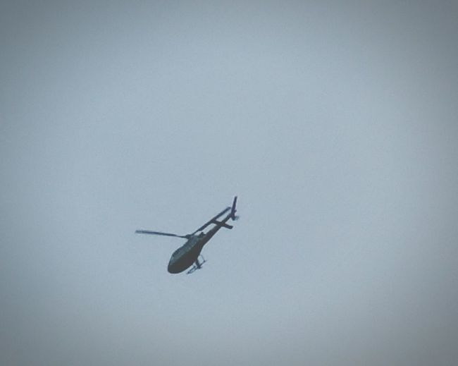 Ubove My Head Just Now Helicopter Chopper Flying Rotorblade