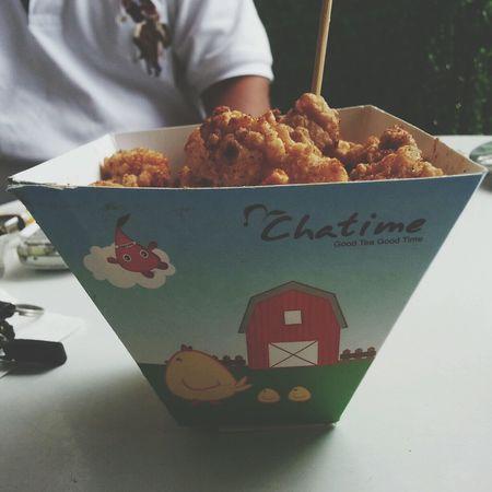 Spicy popcorn chicken. Taiwan's famous street food :) Streetfood Enjoying Food Fried Chicken JUNKFOOD