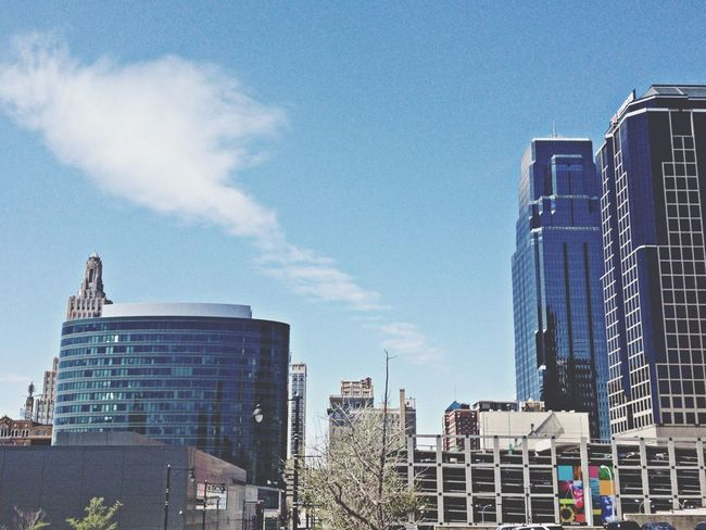 Stop the presses, sunshine and blue skies in KC! Clouds And Sky Urban Landscape Sky_collection EE_Daily: Blue Friday