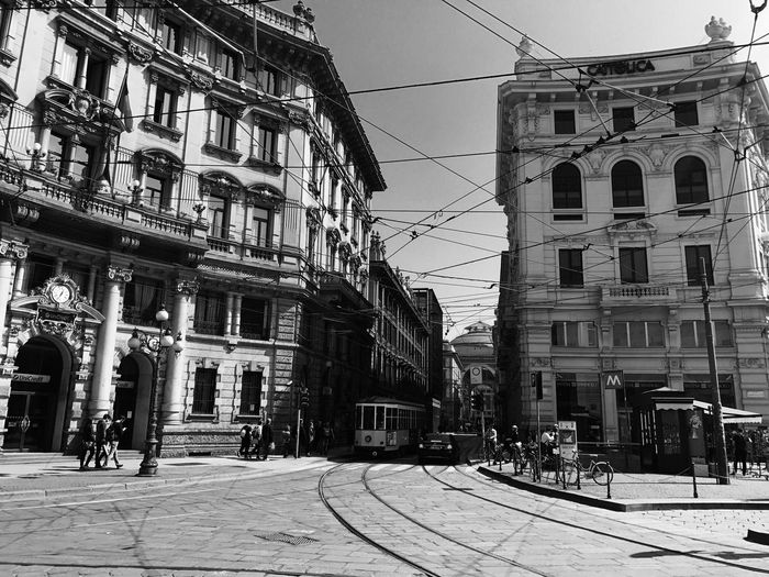 Building Exterior Architecture Built Structure Cable Street Outdoors Day City Sky Real People Men People milan Milan