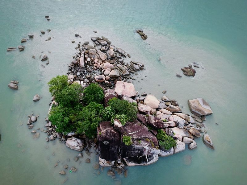 Rock island Rocks And Water High Angle View Aerial Photography Dronephotography Firmware Update Quadcopter NO FLY ZONE Island Cityscape New Technology Landscape Lost In The Landscape