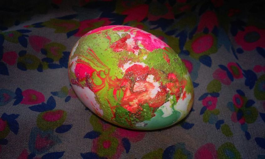 Happy Easter! Easter Colors with Nailpolish Easter Eggs Art Trying Something New Beautiful Tiedye DIY Easter Ready