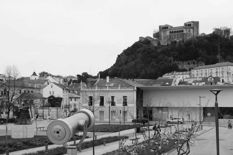 Outdoors Sky No People Day Architecture Preto E Branco Noir Et Blanc Black And White View Castelo Castle Miradouro Telescope View Telescopio Telescope