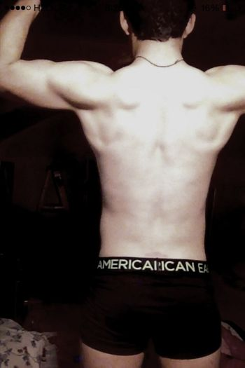 Flexing Afterworkout Muscles Love
