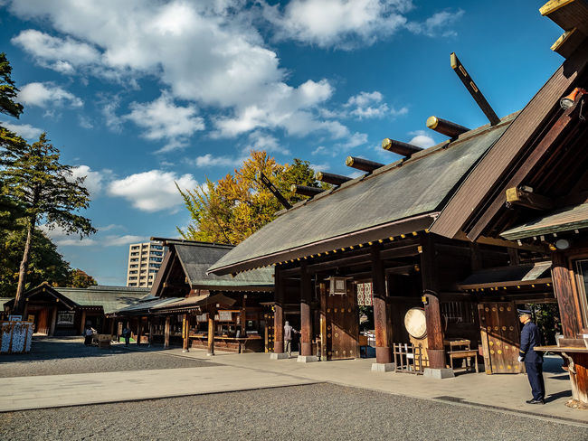 Autumn in the yard or Hokkaido Shrine, Sapporo, Hokkaido, Japan Architecture Built Structure Building Exterior Sky Cloud - Sky Incidental People Tree Day Building Real People Men People Hokkaido Shrine Sapporo Hokkaido Japan EyeEmNewHere Olympus OM-D E-M1 Mark II M.zuiko 12-40mm F2.8 Pro