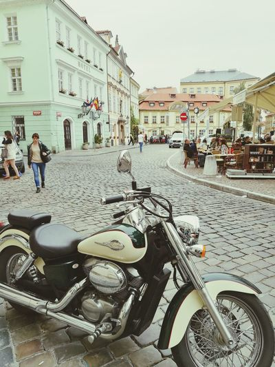 EyeEmNewHere Prague Motorcycle City Calture Vacation Colors Architecture Building Exterior Outdoors Day First Eyeem Photo