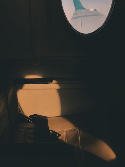 Airplane Seat Close-up Day Indoors  No People Sunset Silhouettes