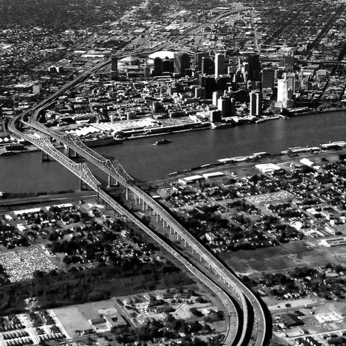 Crescent City Neworleans Amazing View Mississippi River Aerial Shot Skyporn NOLA Bridge Taking Photos InFlightPhoto