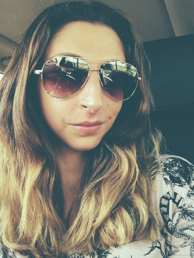 Saturday selfie Random Me Selfie ✌ Photography EyeEm Gallery Picoftheday One Person Glasses Front View Young Adult Portrait Lifestyles Young Women Women Sunglasses Real People Adult Headshot Leisure Activity Car Vehicle Interior Looking At Camera Indoors  Car Interior Mode Of Transportation Hairstyle