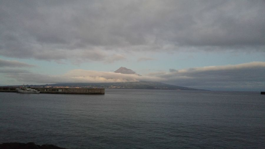 Faial Island Pico Island Sunset Ocean View Azores Islands Pico Overview
