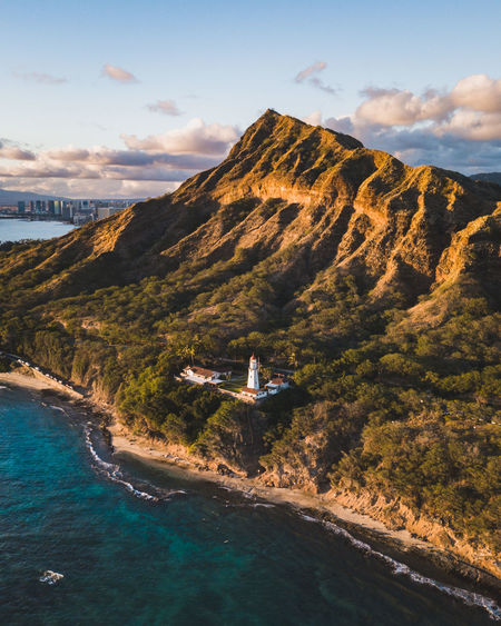 Flight over Diamond Head inear Waikiki Aerial Shot DJI Mavic Pro Epic Shot Photography Hawaii Lighthouse Oahu Aerial Photography Architecture Beauty In Nature Built Structure Day Diamond Head Dronephotography Droneshot Landscape Landscapes Lighthouse_lovers Lighthousephotography Mountain Nature No People Outdoors Sea Sky Water