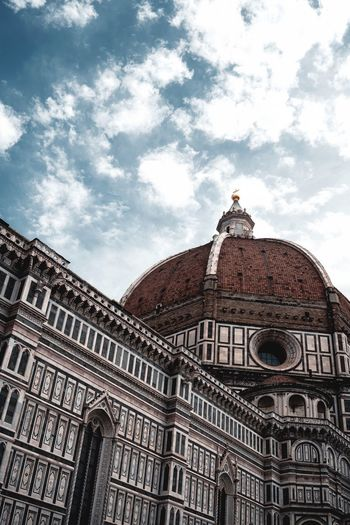 Santa Maria Del Fiore Firenze Architecture Building Exterior Cloud - Sky Built Structure Sky Low Angle View Building Outdoors Religion No People Belief Ornate City Travel Place Of Worship Day Tourism Travel Destinations The Past History