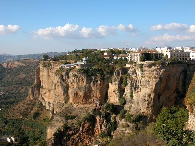 Andalucía Famous Place Parador Rock Formation Rocks Ronda Sky Wide View Landscapes With WhiteWall