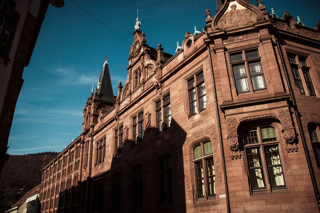 Beautiful Heidelberg Library Love Architecture Biblioteca Building Exterior Built Structure Day Low Angle View No People Outdoors Sky Window