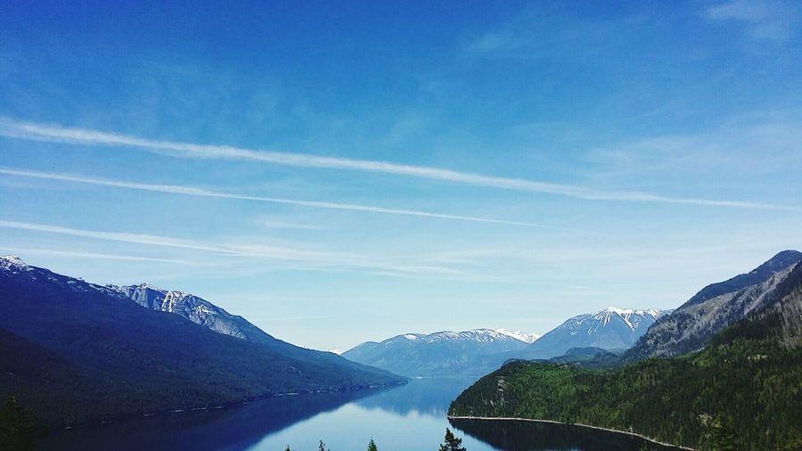 New Denver Newdenver Denver Bluesky Pretty Beautiful Gorgeous Lake Summer 2016 Canada Kootenays