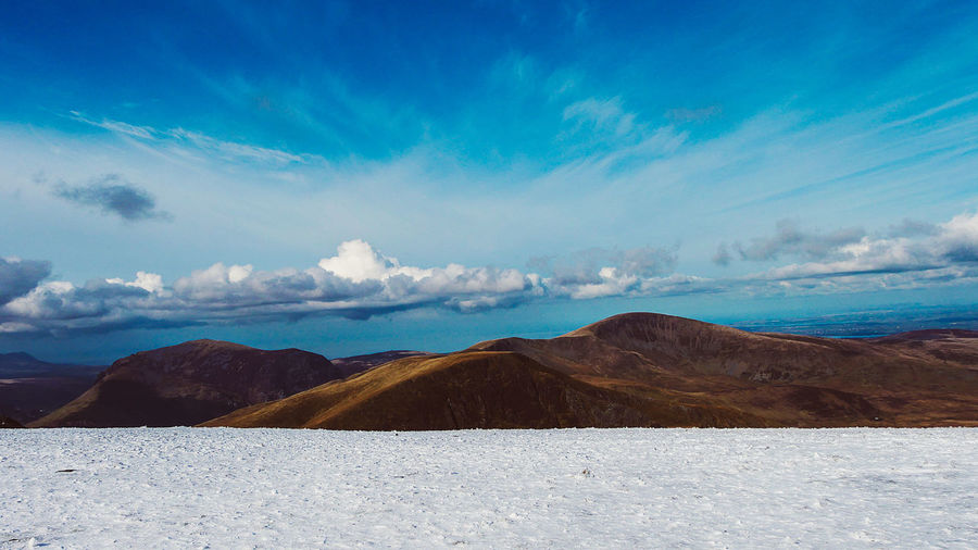 Beauty In Nature Blue Cloud - Sky Day Environment Idyllic Landscape Mountain Mountain Range Nature No People Non-urban Scene Outdoors Remote Salt Flat Scenics - Nature Sky Snowcapped Mountain Tranquil Scene Tranquility Water