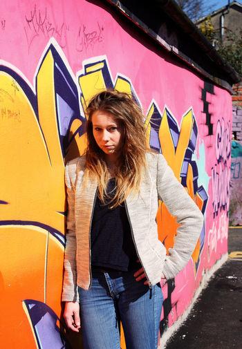 Grafitti shoot Wales Cardiff Graffiti Grafitti Wall Photoshoot Colourful Outdoors Grafitti Art. Model Girl