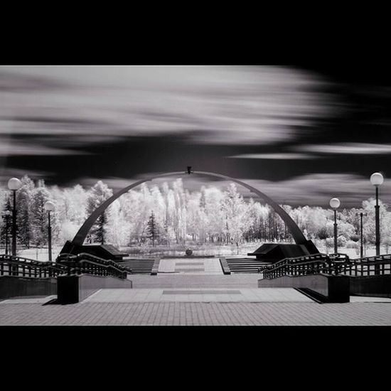 чернобелое инфракрасный пейзаж паркпобеды Омск. blackandwhite infrared omsk openomsk