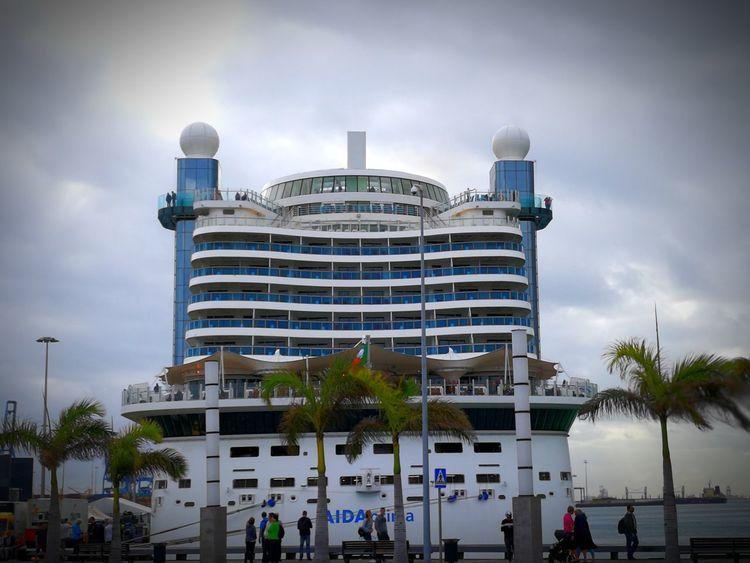 Aida Prima im Hafen von La Palma auf Gran Canaria Kreuzfahrtschiff Kreuzfahrthafen Gran Canaria Urlaub ❤ AIDAprima Schiffsanleger Aida No People