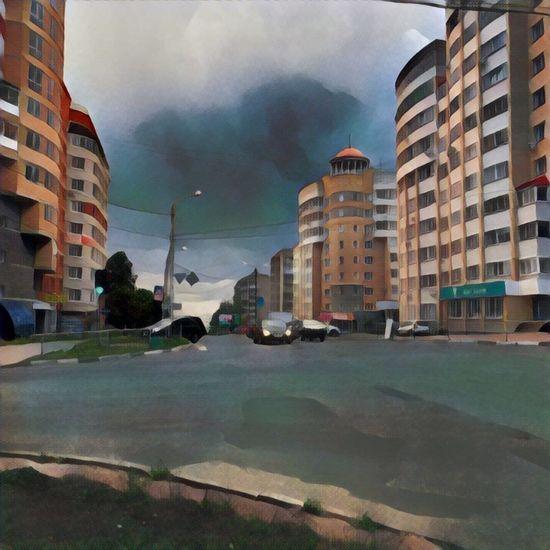 City киров город Дождь Prisma перекрёсток Architecture Building Rain Sky Cloud