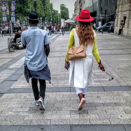 Two Is Better Than One Streetphotography People Walking  Love Paris Tourists In Paris Chamselysees Couple